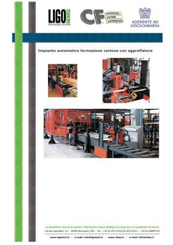 Impianto automatico formazione cartone