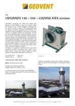 LSX/MSX ATEX fan