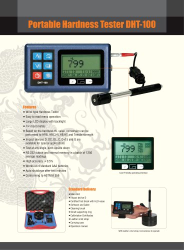 Leeb Hardness Tester/Portable/Digital LCD Display/ DHT-100