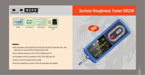 Surface Roughness Tester DR230