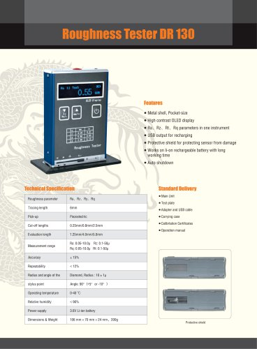 Surface Roughness Tester/Portable/OLED/DR130