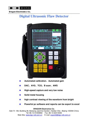 Ultrasonic Flaw Detector DFD10/Portable