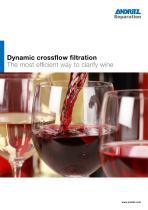 DCF crossflow filter for wine