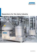 Separators for the dairy industry