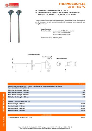 Thermocouples - thermocouples