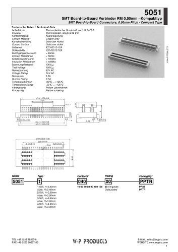 5051 series - SMT Board-to-Board Connectors