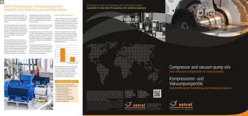 Compressor and vacuum pump oils