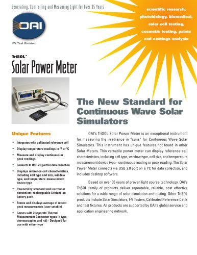 TriSOL Solar Power Meter