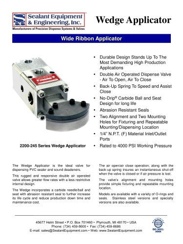 Series Wedge Applicator