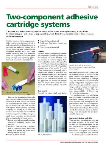 Two Component Adhesive and Sealant Cartridge System