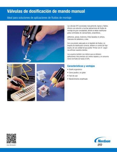 Válvula dosificadora manual hoja de datos
