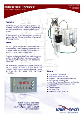 Single Ingredient Bulk Dispenser with Automatic Option