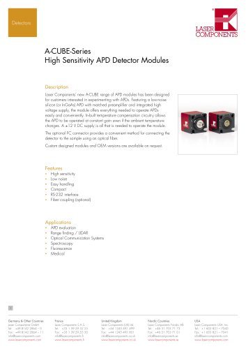 APD Modules: A-Cube Series