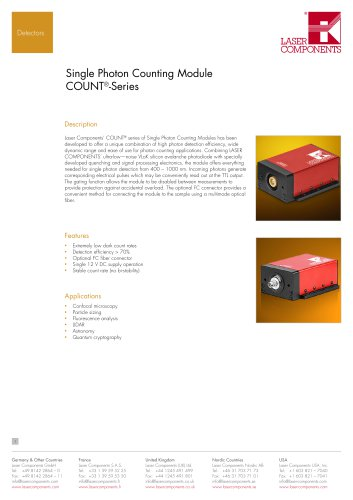 Single Photon Counting Module COUNT®-Series