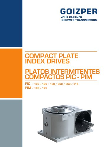 COMPACT PLATE INDEX DRIVES