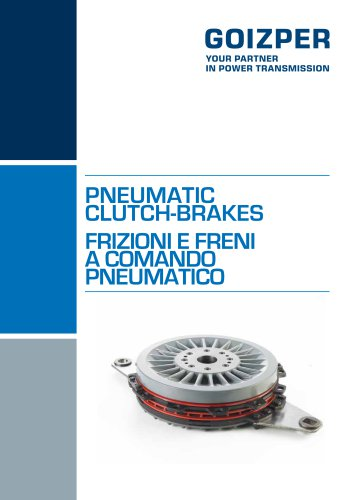 Gruppi Frizione - Freno a Comando Pneumatico Catalogo - Goizper Industrial