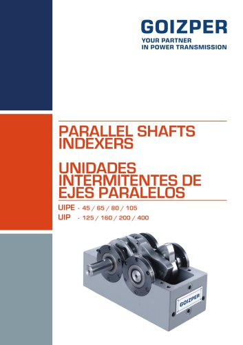 PARALLEL SHAFTS INDEXERS