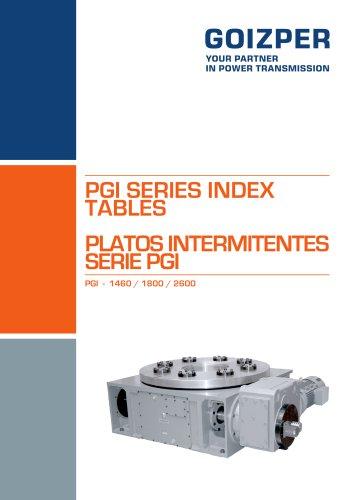 PGI 1460-2600  Intermittent Index Units Catalogue - Goizper Industrial