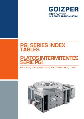 PGI 220-1120 Intermittent Index Units Catalogue - Goizper Industrial