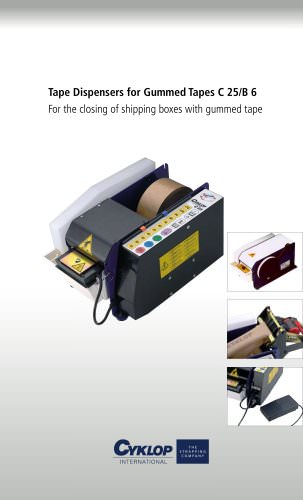 Electronic strip dispenser C 25 for gummed tapes