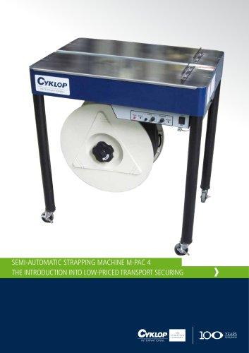 Semi-Automatic Strapping Machine M-Pac 4