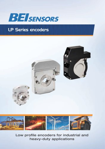 Low profile encoders for industrial and heavy-duty applications