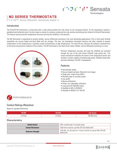 M2 SERIES THERMOSTATS