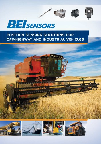 Position Sensing Solutions for Off-Highway and Industrial Vehicles Brochure
