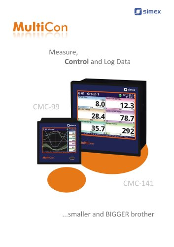 MultiCon CMC measure, control and log data.