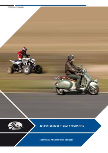 BOOST BELT PROGRAMME   SCOOTERS & RECREATIONAL VEHICLES