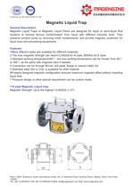 Magengine's Magnetic liquid trap for removing ferrous contamination from liquid