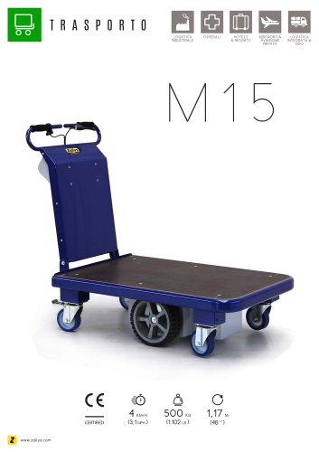 M15 carrello trasportatore elettrico