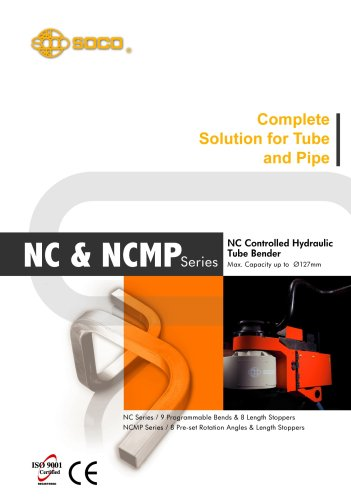 Taiwan SOCO - NC Control tube bending Hydraulic Tube Bender ( Pipe Bending Machines )