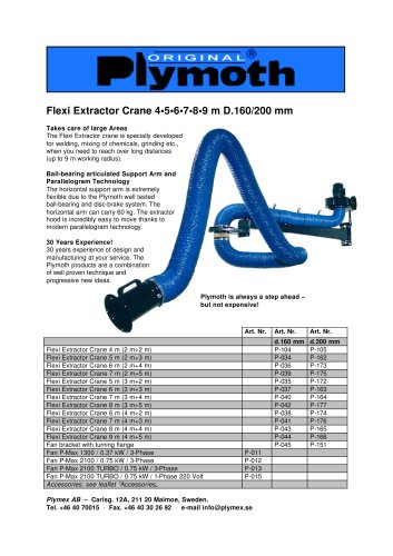 Flexi Extractor Crane 4?5?6?7?8?9 m D.160/200 mm