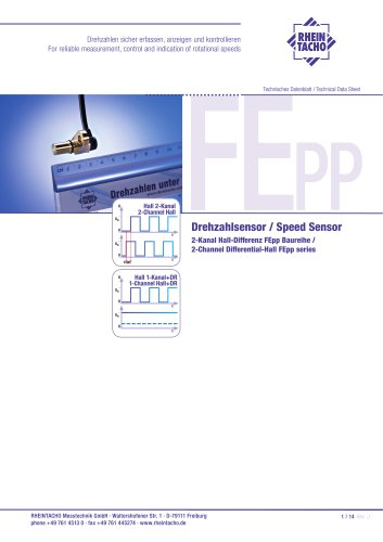 Sensor: 2-Channel Differential-Hall FE Push-Pull series