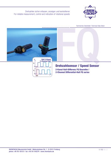 Sensor: 2-Channel Differential-Hall FQ series