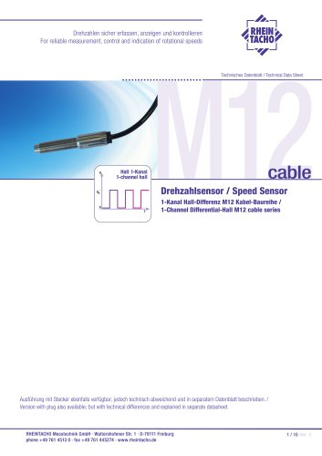 Sensors: 1-Channel Differential-Hall M12-cable series