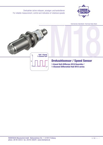 Sensors: 1-Channel Differential-Hall M18 series