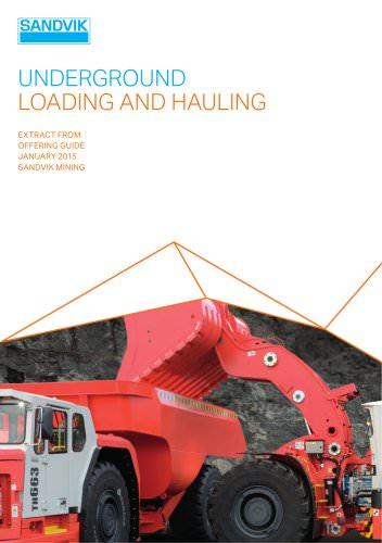 Sandvik underground loading and hoaling