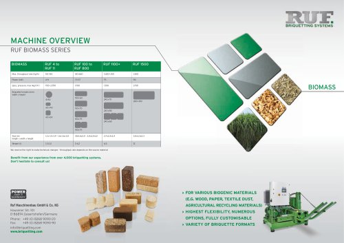 RUF 100 - RUF 800 Brochure en