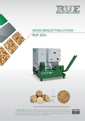 RUF_SZ1+_Briquetting of Wood_30-60kg per hour