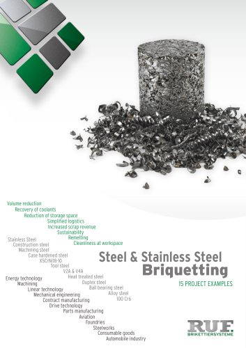 Steel & Stainless Steel Briquetting