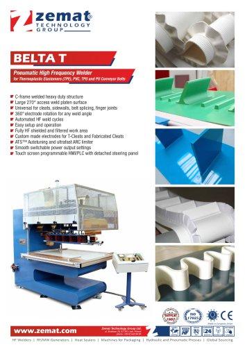 BELTA T   Pneumatic High Frequency Welder for PVC, TPU, PU Conveyor Belts