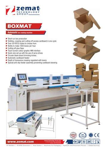 BOXMAT   Automatic box making machine