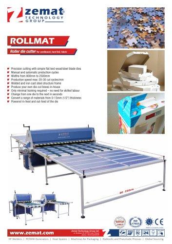 ROLLMAT   Roller die cutter for cardboard, hard foil, fabric