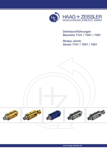 rotary joints series 7101 / 7201 / 7501