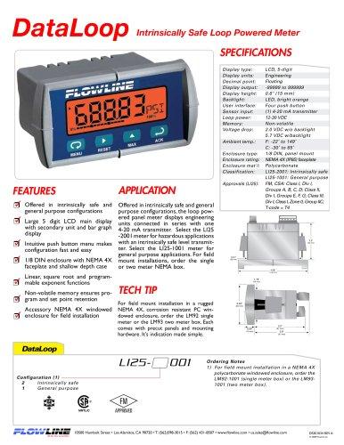 Intrinsically Safe Loop Powered Meter
