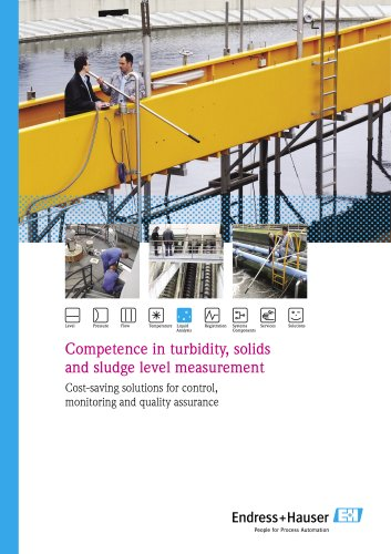 Competence in turbidity, solids and sludge level measurement