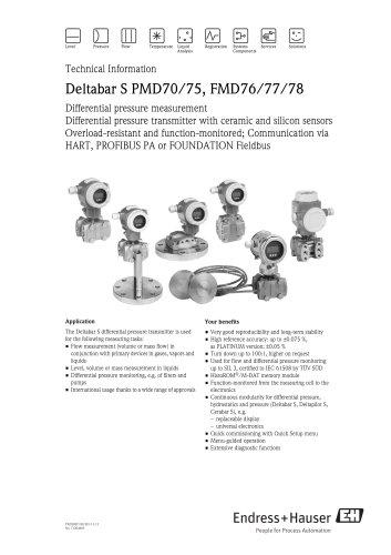 Deltabar S PMD70