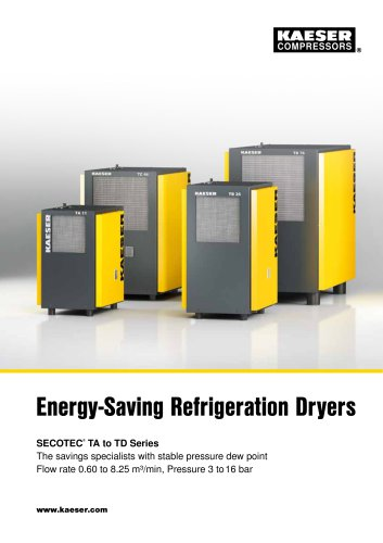 Refrigeration dryers TAH - TCH series